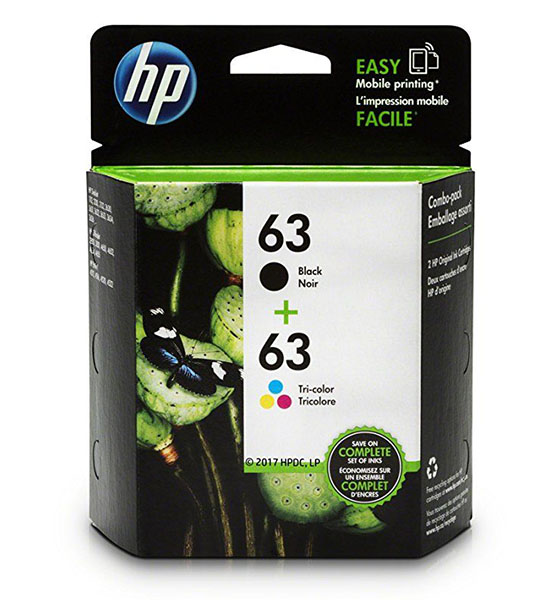 HP 63 ink HP 63 | 2 Ink Cartridges | Black, Tri-color | F6U61AN, F6U62AN shop mart store best amazon product online shopping website