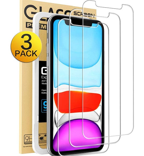 iphone 11 screen protector Mkeke Compatible with iPhone XR Screen Protector, iPhone 11 Screen Protector,Tempered Glass Film for Apple iPhone XR & iPhone 11, 3-Pack Clear shop mart store onilne shooping amazon products best website