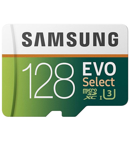 Samsung (MB-ME128GA/AM) 128GB 100MB/s (U3) MicroSDXC EVO Select Memory Card with Full-Size Adapter shop mart store best amazon product online shopping website